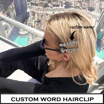 Horquillas para el pelo con letras personalizadas, Personaliza tus palabras favoritas para regalo de mujeres y niñas, envío directo