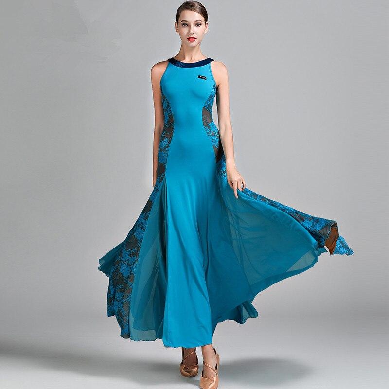 Women Ballroom Dance Dress Waltz Skirt Adult Modern Dance Suit Ball Dance Costumes Tango Rumba Dance Suit Ice Silk Skirt S9022