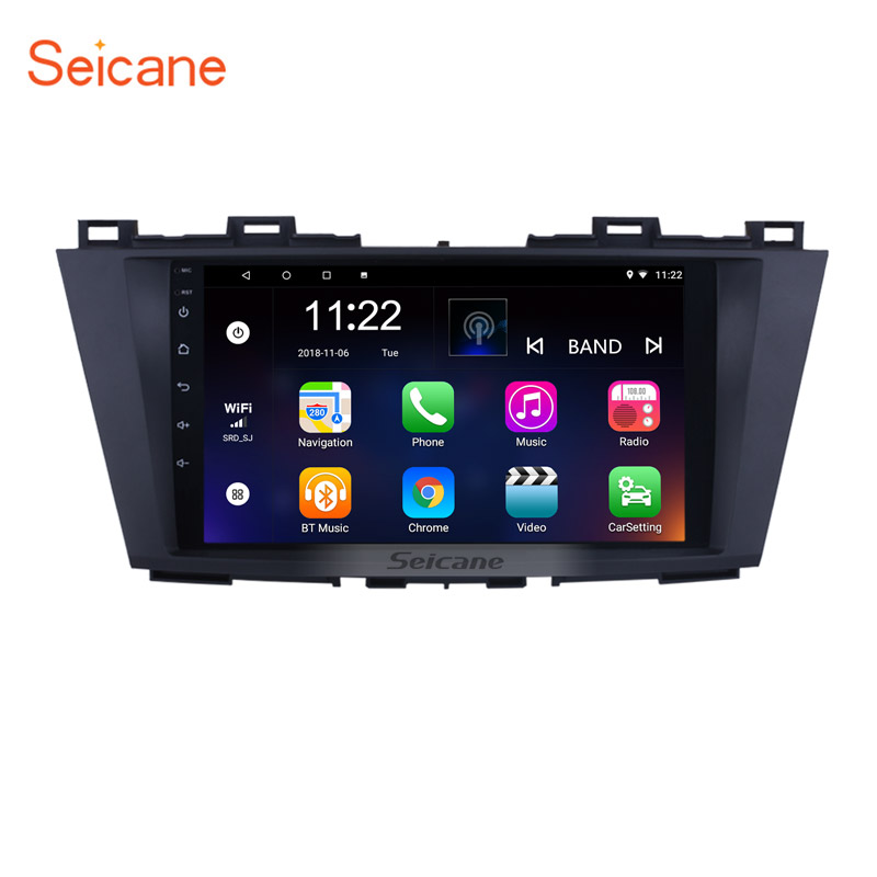 Seicane Android 10.<font><b>0</b></font> 9 inch Car Multimedia Player for 2009 2010 2011 2012 Mazda <font><b>5</b></font> with Quad-core CPU WIFI <font><b>USB</b></font> GPS Navi Radio image