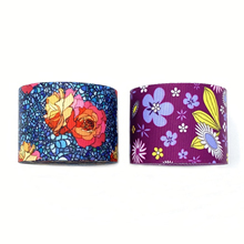 38mm Printed Grosgrain Colorful Flower Ribbon For Hairbow Dresses Handmade Gift Card