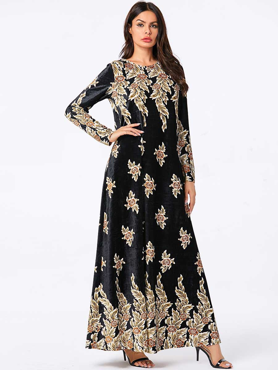 Velvet Maxi Dress Islamic Clothing