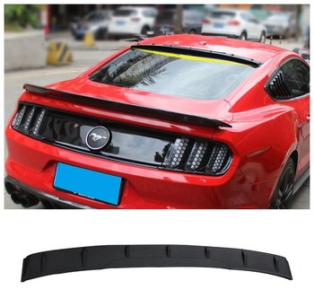 High Quality ABS & Carbon fiber Grain Rear Trunk Lip Spoiler Top Wing Fits For Ford Mustang 2015 2016 2017 2018 carbon fiber rear trunk wings m4 spoiler for bmw 4 series f36 420i 428i 435i gran coupe 4 door 2013 gloss black spoiler wing