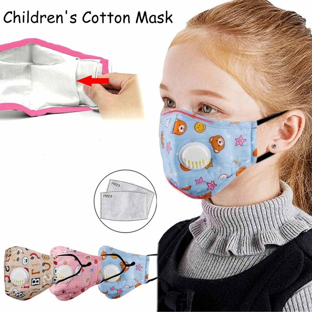 Tcare Reusable Kids Children Mask with 2 Filters Mouth Mask Haze Dust Pm 2.5 Face Mask Breathable Valves Kids Mask 1
