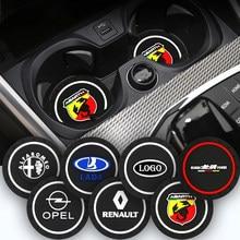 2PCS Emblema Do Carro Anti-Slip Pad Mat Suporte de Copo de Água Para BMW 1 2 3 4 5 6 7 Série X1 X3 X4 X5 X6 X7 Z4 E46 E90 E60 F10 F11 G30 E81