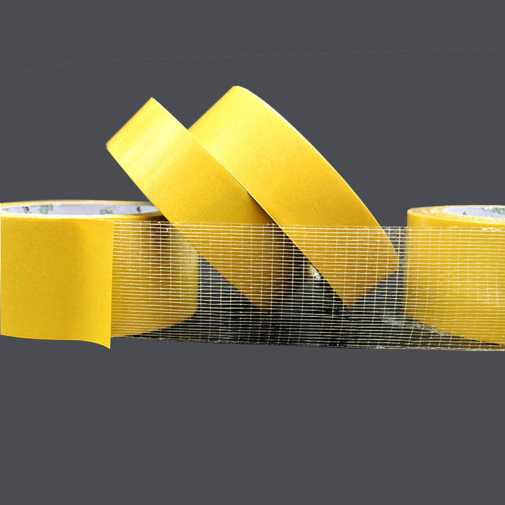 1Roll 20M Double Sided Tape High Viscosity Grid Fiber Transparent Double Sided Tape Sticky Adhesive Fiber Mesh Tape
