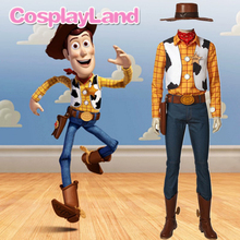 Toy Story Woody Cosplay Costume Halloween Party Costumes Cowboy Suit Men Outfit with Boots Hat Custom Made
