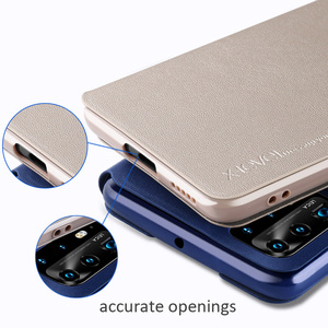 Image 3 - X Level Book Flip Leather Case For Huawei P40 Pro Pro+ Plus Ultra thin Slim