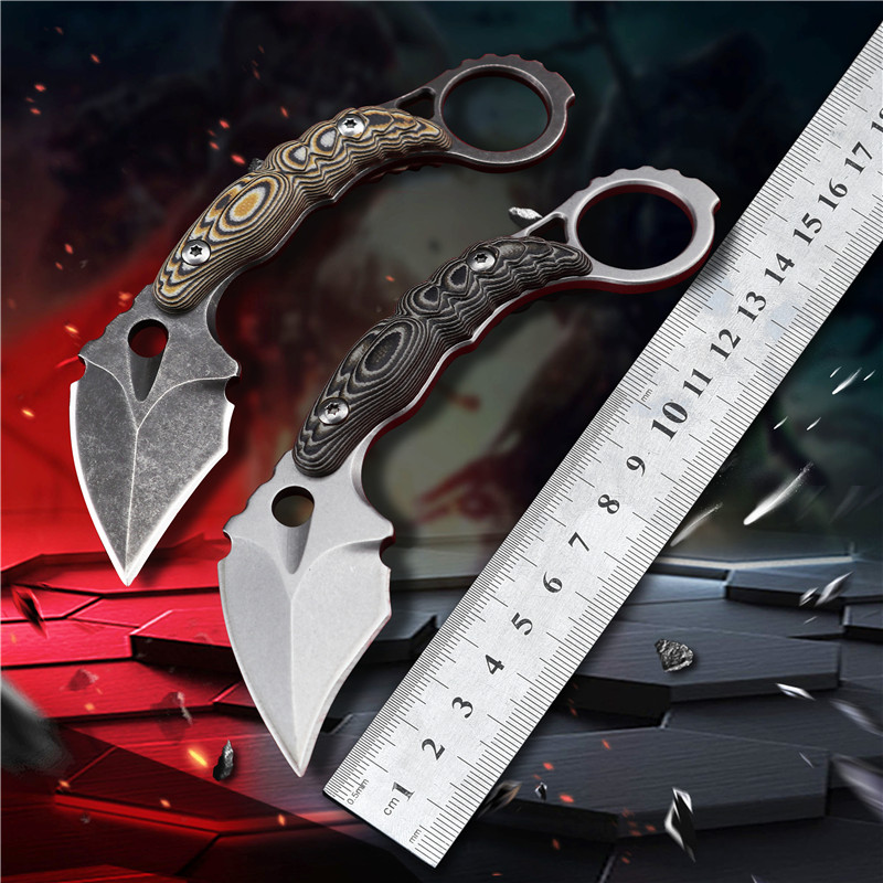 Straight Knife Tactical Knife Fixed Knife Survival Knife Camping Rescue Knife Tool Folding Knife EDC Tool Knife Karambit Knife