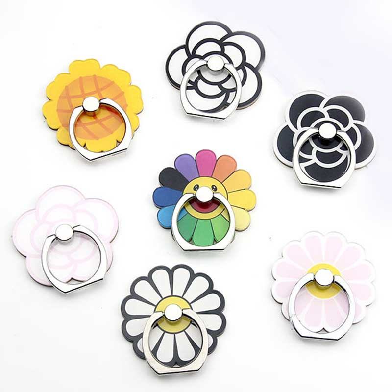 Beautiful Sunflower Universal Phone Ring Holder Mobile Phone Holder Stand Finger Ring Holder Suporte Celular For IPhone Table
