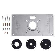 700C Aluminum Router Table Insert Plate + 4 Rings Screws For Woodworking Benches U4LA cheap BENGU NONE CN(Origin) U4LA5AC800385