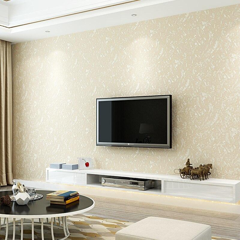 Modern Minimalist Hotel Engineering Plain Color 3D Wallpaper Living Room Bedroom TV Backdrop Wall Coining Solid Color Wallpaper