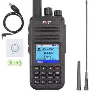 Image 1 - TYT MD 380 Walkie Talkie DMR Digital VHF UHF long range Two Way Radio 5 watts MD 380 Transceiver  Ham Radio Amador+Program Cable