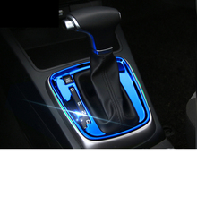 Lsrtw2017 Stainless Steel Car Automatic Gear Panel Trims for Kia Kx Cross K2 Rio 2017 Interior Mouldings Accessories lsrtw2017 abs car gear panel chrome trims for kia rio 2017 2018 2019