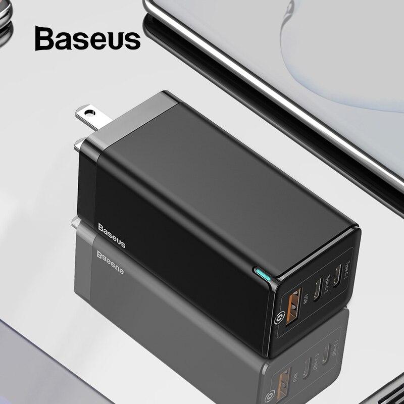 Baseus ガン急速充電器 65 10W 米国のプラグ USB PD 充電器サポート急速充電 4.0 SCP 過給 iphone 11 プロ XR Xiaomi HUAWEI 社