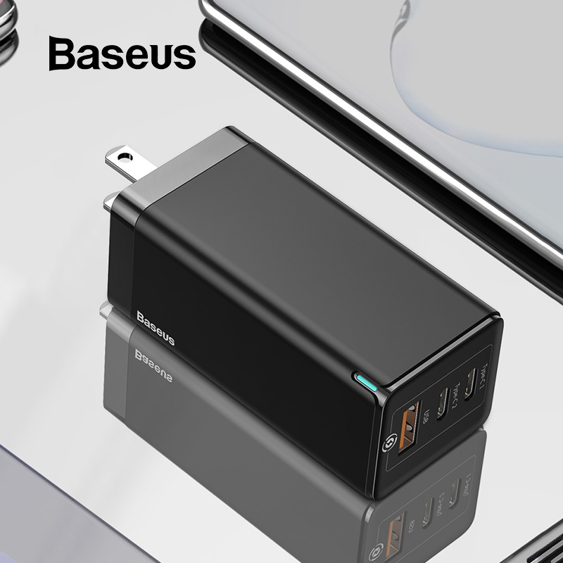 Baseus 65W Fast GaN Charger US Plug USB PD Charger Support Quick Charge 4.0 SCP <font><b>SuperCharge</b></font> For iPhone 11 Pro XR Xiaomi <font><b>HUAWEI</b></font> image