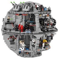 В наличии 05063 4016 шт 05132 84488 шт Звездный План серии Force Waken UCS Death Star Wars Строительные блоки Наборы игрушек