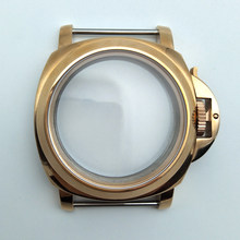 Gold case 44mm brushed stainless steel case suitable for movement 6497/6498 2 order(China)