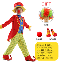 Halloween Carnival Party Costumes Dad and Son Matching Circus Clown Costume Cosplay Clothes Set for Father Kids Children Dress