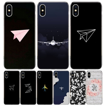 Travel the world paper plane Phone Case For Apple IPhone 11 12 Pro Mini XR X XS Max 7 8 6 6S Plus + 7G 6G 5 SE 2020 Luxury Patte image