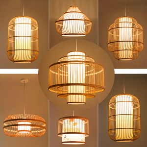 Image 2 - Chinese style Bamboo pendant lights Lighting Garden Restaurant kitchen pendant lamp Hotel Farm Teahouse Lantern Tatami Hanglamp