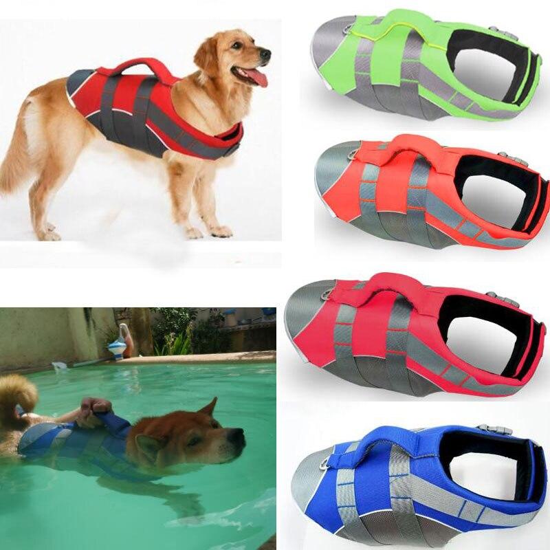 Pet Vest Large Dog Life Jacket Clothes Labrador Golden Retriever Dog Surfing Swim Vest Clothes Costume Safety S-XL Pets Clothing