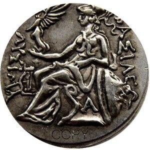Image 5 - G(01) G(49) mezcla antigua griega 52 Uds monedas de copia chapadas en oro/plata diferentes