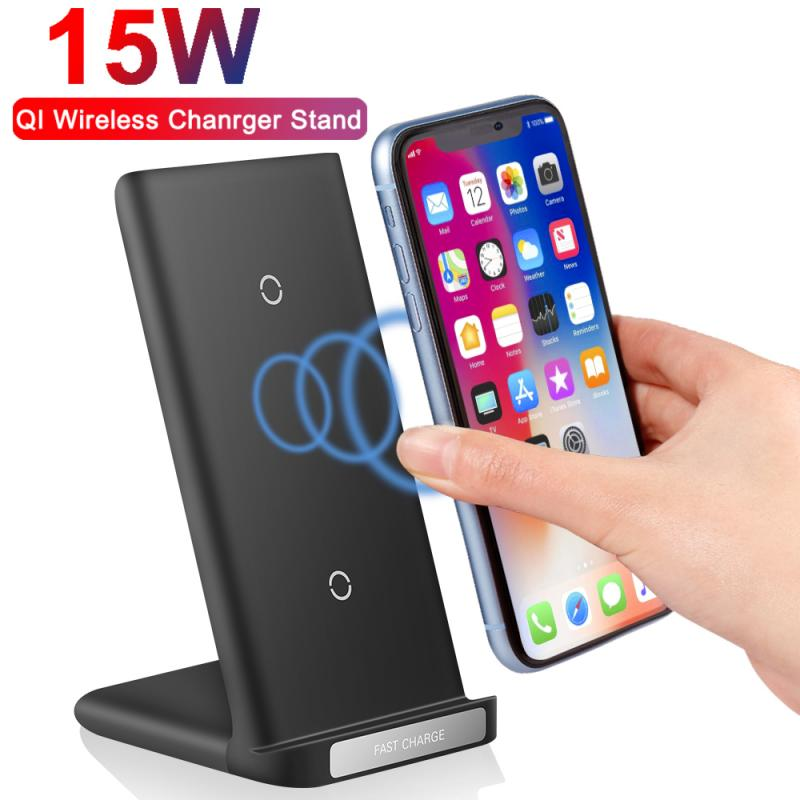 15W Qi Wireless Charger Stand For Samsung Galaxy A71 A51 A31 A21 A41 Fast Wireless Charging Station Phone Charger Stand Holde