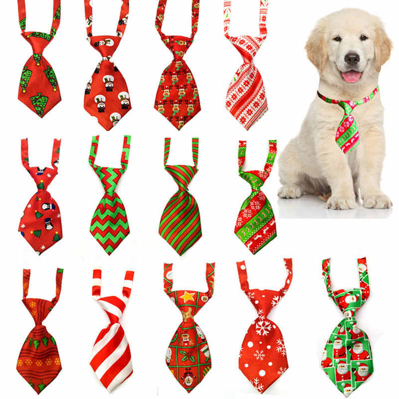 Natale Pet Dog Cravatte Cravatte Fatti A Mano Regolabile Pet Dog Ties Festival Cravatte Accessori Del Cane Forniture Colore Casuale