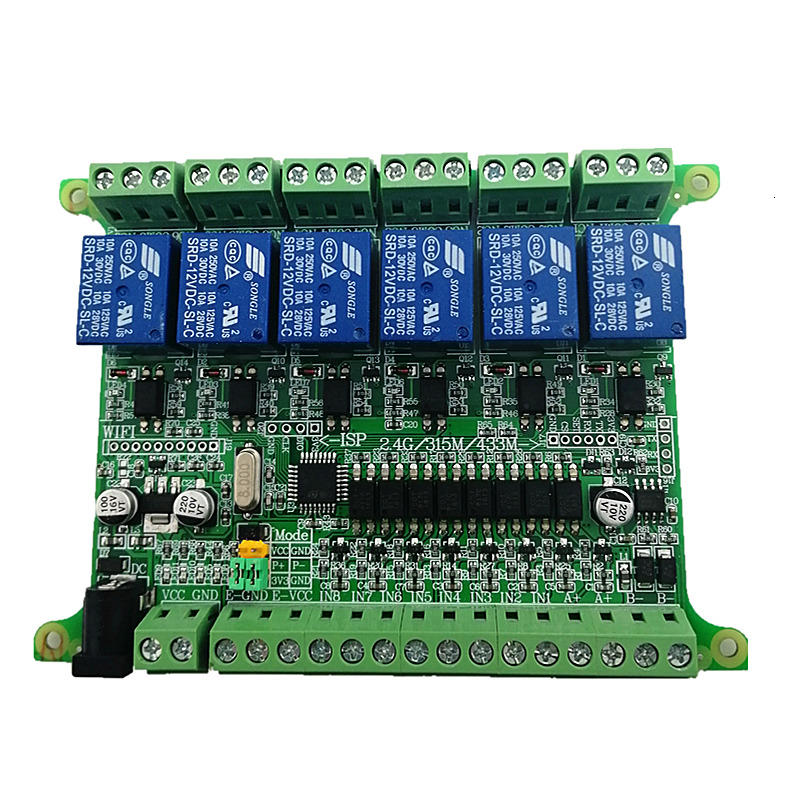 Modbus Port 6 Road Relay Output 8 Road Input Rs485 Optional Wifi 2.4g Wireless Communication