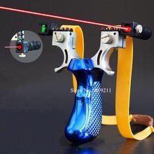 Laserowe celowanie proca polowanie katapulta potężna gumka sling shot outdoor proca do polowania shooti tanie tanio MRTNAN Alloy slingshot Pod 20 funtów Łuk Związek łuk 81mm 40mm 20mm 114mm 186g Alloy + Resin