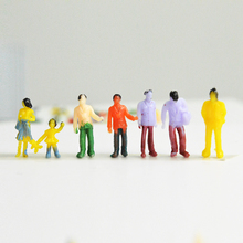 100pcs 1/100 scale model color figures toys miniature architecture painted people for diorama garden street scene layout kits цена и фото