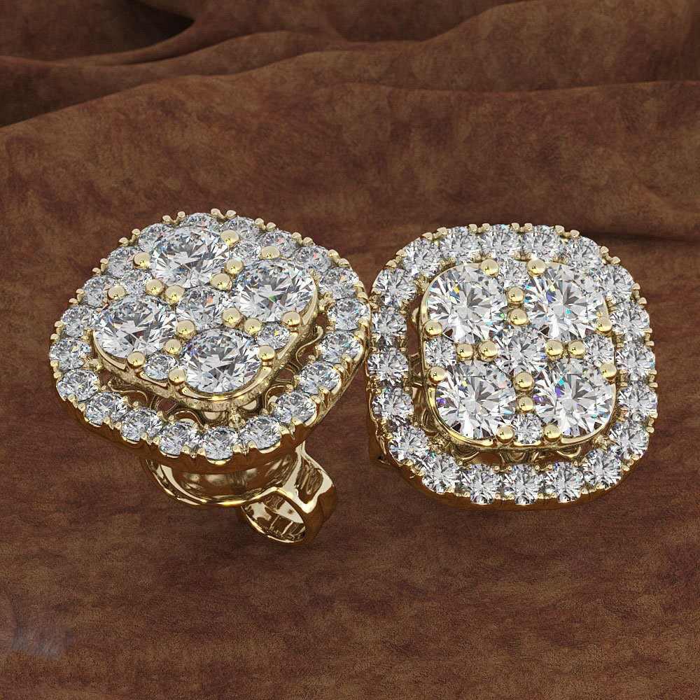 Piazza Piena 1 carati diamant Gioielli Otto Granato 14KT oro Peridot Diamant Orecchino Della Vite Prigioniera della pietra di Gemma orecchini Degli Uomini delle donne