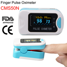 CMS50N Finger Tip Pulse Oximeter Portable Blood Oxygen meter SpO2 Saturation Pulse Rate Heart Rate HR PR Health Monitor CE,FDA цена 2017
