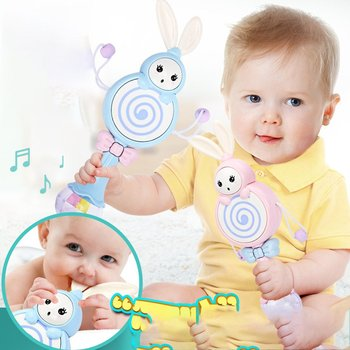 Musical Flashing Baby Rattles Infant Bells Juguetes Rabbit Hand Newborn Toy Early Educational Toys 0-12M
