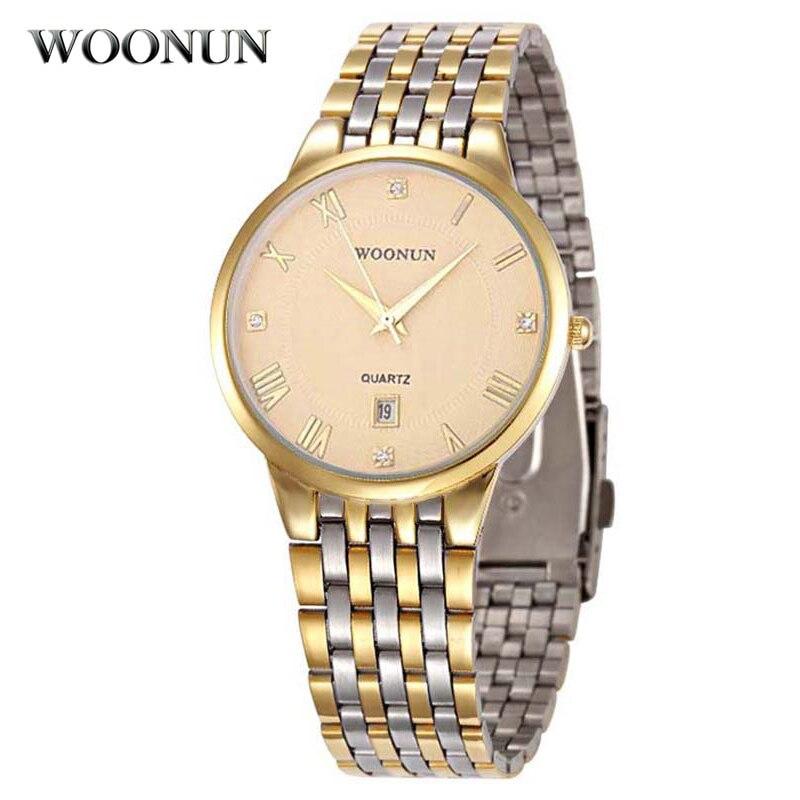 Man Watch Luxury Men Gold Watches Stainless Steel Date Analog Quartz Wristwatches Fashion Business Men Watches Relogio Masculino