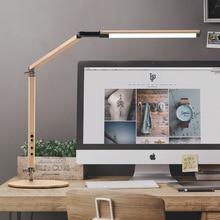 Энергосберегающий современный светодиодный Настольный светильник с зажимом, диммер, длинная рукоятка, офисный Рабочий стол, светильник для настольного светильника