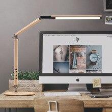 Energie Sparende Moderne LED Schreibtisch Lampe mit Clamp Dimmer Schaukel Lange Arm Business Büro Studie Desktop Licht für Tisch Leuchte