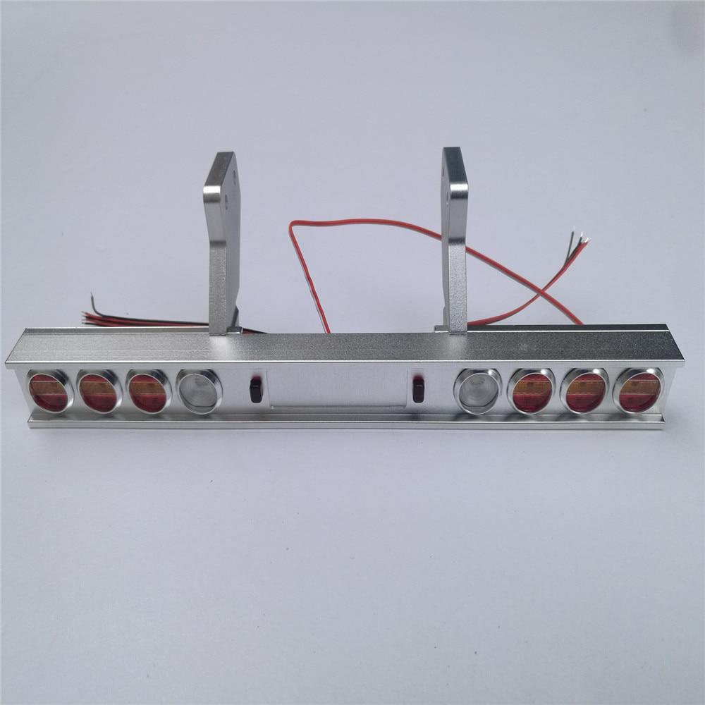 substituicao do transporte caminhao de metal luz traseira modificado para tamiya 1 14 trator 56319 56330