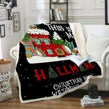 Плед для рождественской елки домашнее покрывало дивана из кораллового