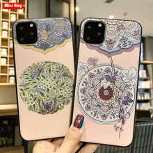 For iPhone 11 Pro Max Case 2019 Ultra Slim Soft Silicone for X XS XR 7 8 6 Plus Cover Fahshion Floral Fundas