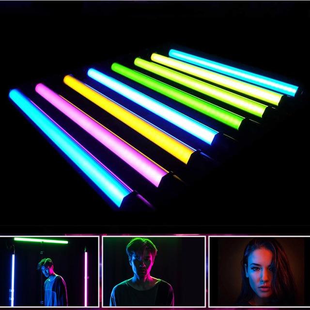 NANLITE NanGuang RGB LED צינור אור צבעוני 2700K 6500K צילום אור כף יד אור מקל עבור תמונות YouTube לחיות זרם