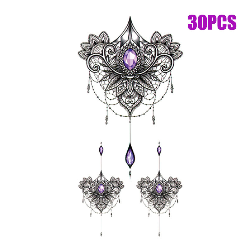 Sexy fashion Art girl chest stickers arm clavicle tattoo stickers sternum stickers cover scar beauty waterproof tattoo stickers