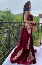 Арабское бархатное вечернее платье Русалочки юбка с разрезом