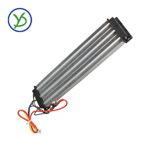 Image 1 - 2500W 220V AC DC Industrial heater PTC ceramic air heater Electric heater Insulated  330*76mm with thermostat protector