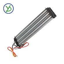 2500W 220V AC DC Industriale riscaldatore ad aria PTC in ceramica riscaldatore Elettrico riscaldatore Isolato 330*76 millimetri con termostato di protezione