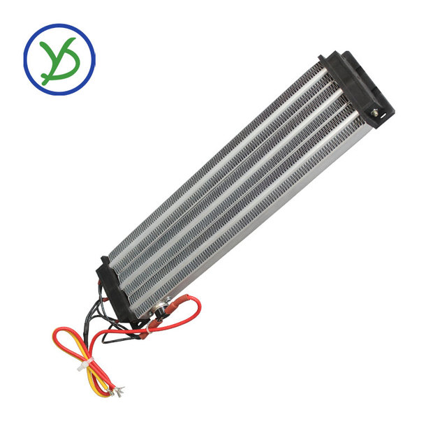 Calentador Industrial de 2500W y 220V CA CC, calentador de aire de cerámica PTC, calentador eléctrico con aislamiento de 330x76mm con protector de termostato