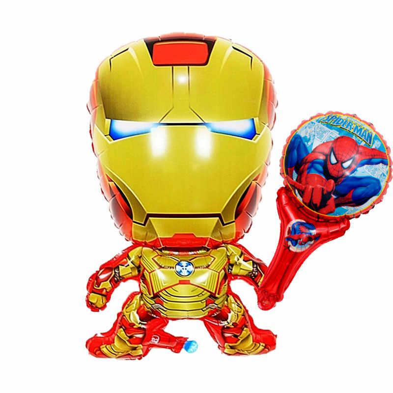 Modelos de explosivos de Super-heróis Balões Foil Birthday Party Balloons Decoração Adulto Esférico Presentes do Dia das Crianças
