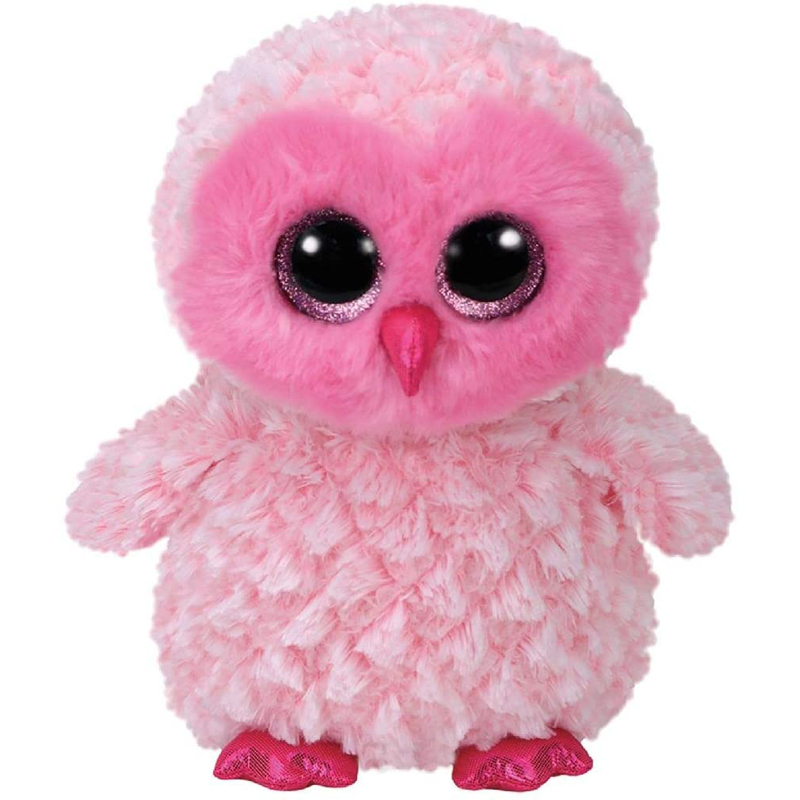 Ty Twiggy The Pink Owl Plush Animal Toys Stuffed Gift For Girl 15cm