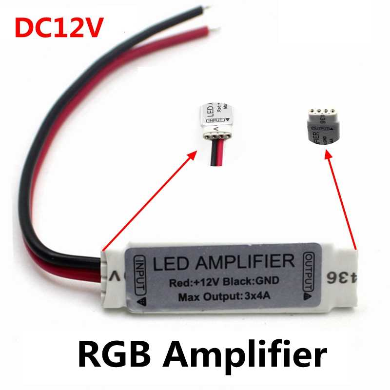 DC12V 3 * 4A 144W Mini Portable RGB LED Strip Versterker Repeater Voor LED Strip RGB SMD 5050/ 2835/3528/5730/5630/3014