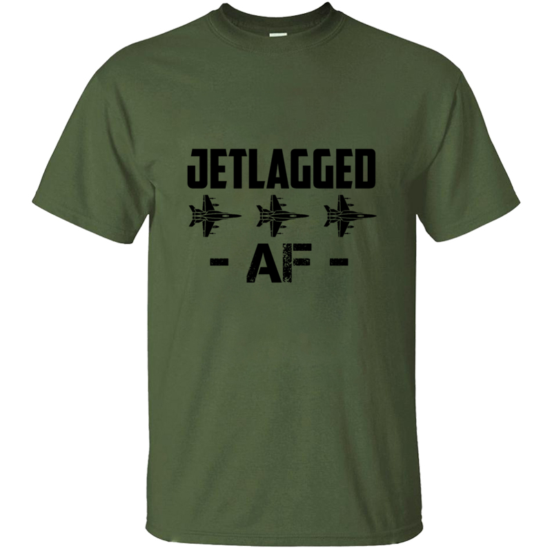 Print Breathable Jet Lag Af Jet Fighter Pilot Air Force Aviator T-Shirt Male Female 2020 O Neck Men T Shirt Clothes Top Tee